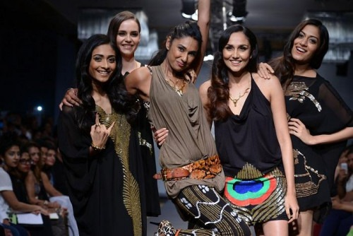 Indian Designer Ami Grewal under her label Raven + Rose at Lakme Fashion Show