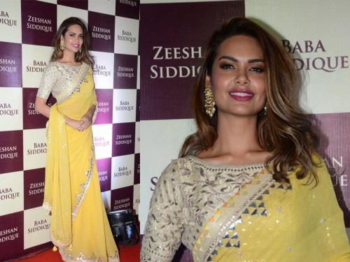 Esha Gupta's Wears Stylish Anita Dongre Saree