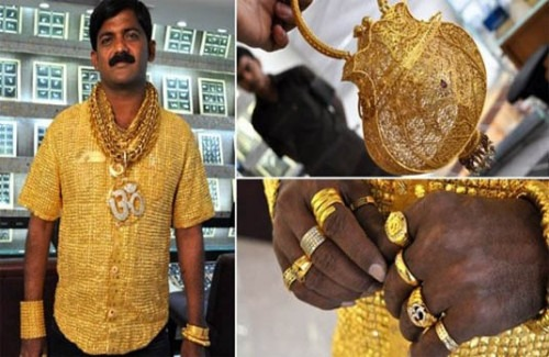Datta Phuge in a Gold Shirt - Ever-Increasing Demand for Gold Jewellery