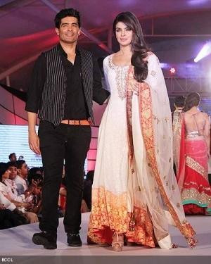 Priyanka Chopra at CPAA wearing a Manish Malhotra Salwar Kameez