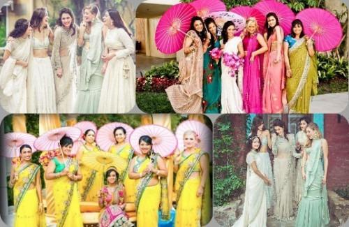 Summer Bridesmaid Dresses | Bridesmaids Outfit Ideas | Summer 2017 Bridesmaids Dresses | Mehendi | Sangeet | Wedding | Reception