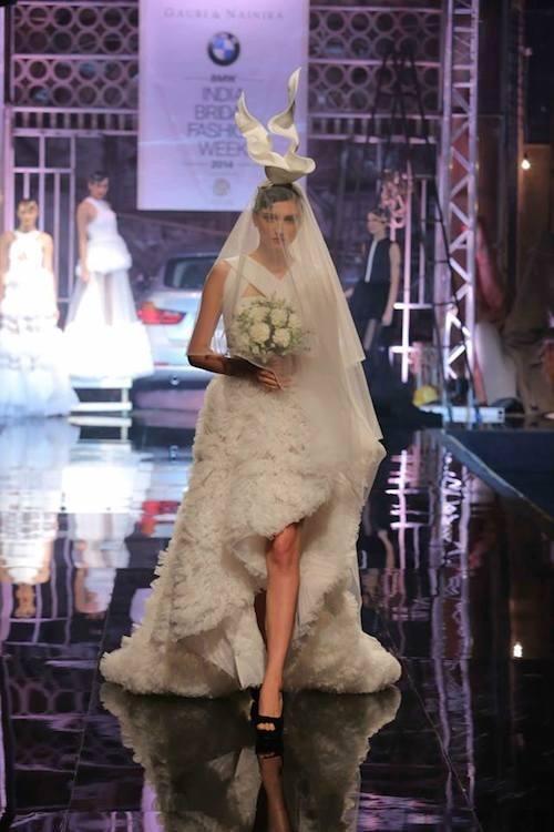 Bridal Collection by Designers Gauri and Nainika on the ramp at BMW India Bridal Fashion Week 2014