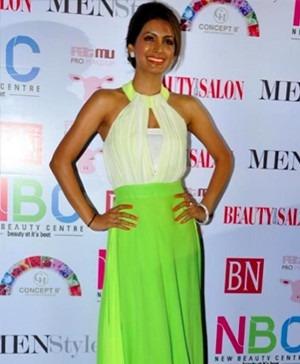 Babita Malkani - Geeta Basra in Babita Malkini Dress at Magazine Launch