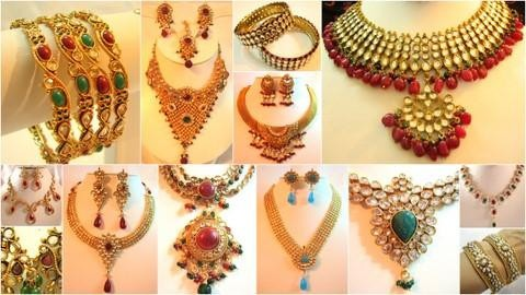 A selection of Indian designer jewellery