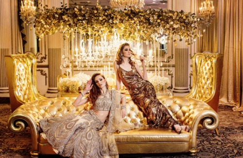 Stunning Gold Outfits | Golden Indian Wedding Outfits