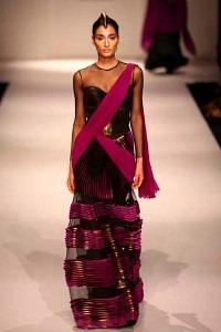 Indian Fashion Trends Designer Indian Wear Half-Lehenga Saree