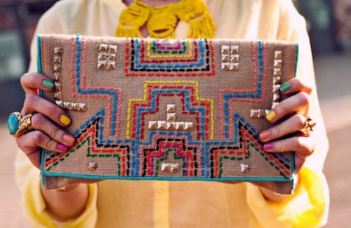 Ornamental Handfuls: Embroidered Clutch Bags