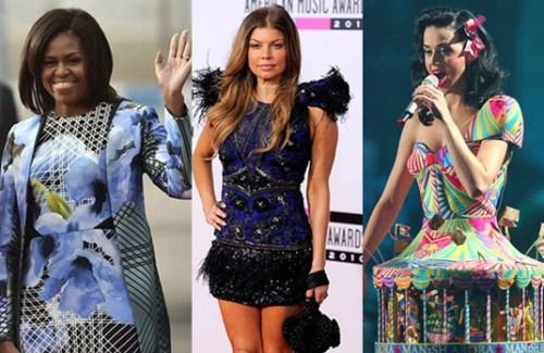 Hollywood Celebrities Wearing Indian Designer Outfits And Dresses