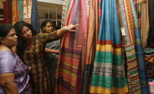 Indian designer sarees at The Silk India Expo 2014