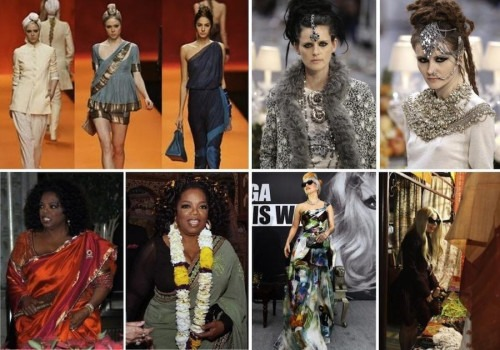 Indian Fashion influences the West, Oprah Winfrey, Lady Gaga