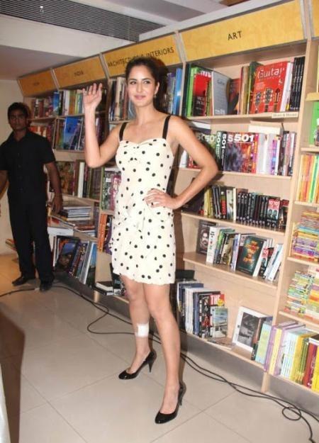 Katrina Kaif in a Polka Dot Dress