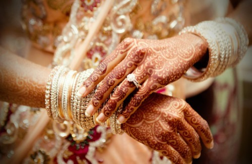 Mehndi Hands With Engagement Ring : Say i love you with an indian engagement ring