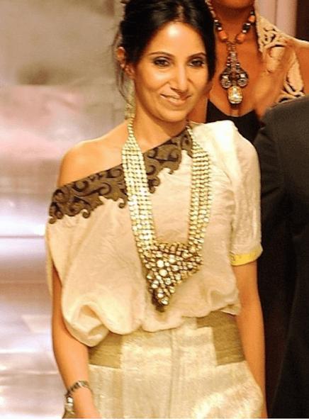 Indian Fashion Designer Anamika Khanna on the ramp
