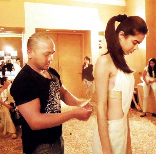 Daniel Syiem - indian designer at this year's Couture Fashion Week in New York