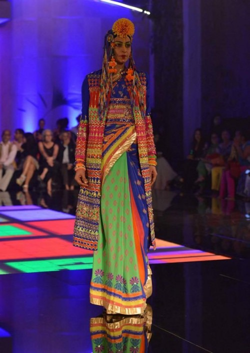 Indian Fashion Designer Manish Arora's Vibrant Collection at India Couture Week 2014