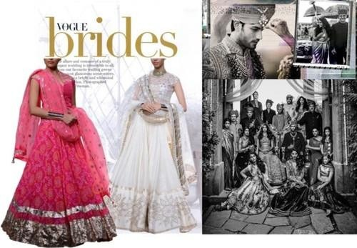 Indian designer Anita Dongre presents her wedding collection ' Lehengas'
