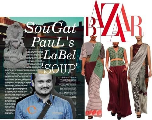 Indian designer Sougat paul's designer label collection 'SOUP'