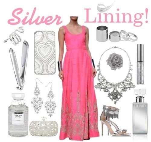 Hot Pink gown by Fashion Designer Anita Dongre