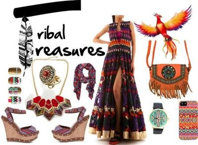 Designer Siddhartha Tytler's tribal dress | Designer Evening Dress and Evening Gowns