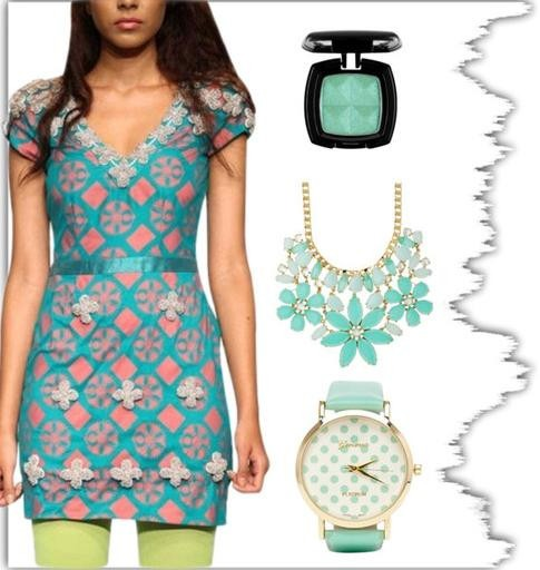 blue and peach Designer dress by Indian Fashion Designer Vijay Balhara