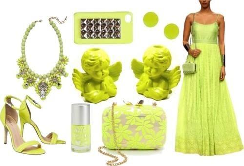 Neon green colour designer gown by Indian designer Anita Dongre