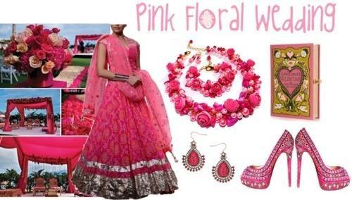 pink designer lehenga by Indian fashion designer Anita Dongre