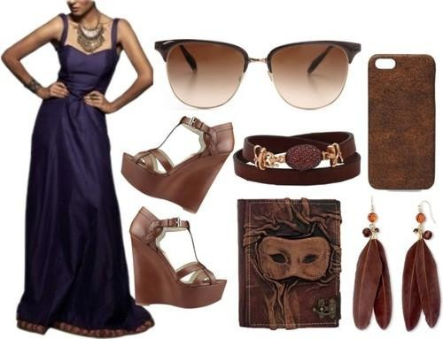 Indian designer label sva presents a blue backless gown
