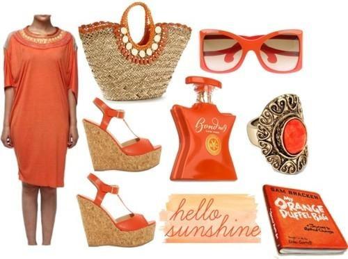 orange designer dress by Indian fashion designer Satya Suman