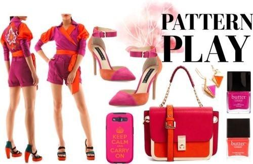 Indian Fashion Designer Siddhartha Tytler presents a pink and orange designer top