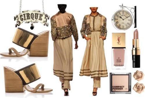 Indian fashion designer Vijay Balhara's designer jacket, pants and dress