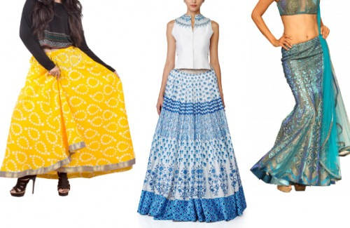 3846167e94 Indian Skirts from Strand of Silk | Dazzling Indian Skirts For The Festive  Season