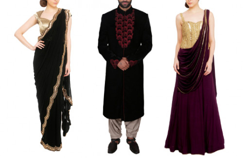 How to Match Indian Wedding Reception Outfits For Couples | Matching Sarees and Kurtas For Couples