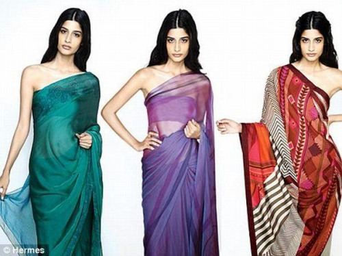 International Fashion Label - Hermes - Inspired by India - Saree