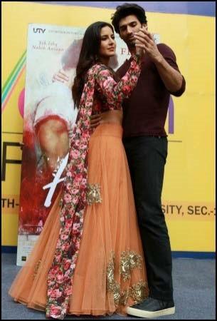 Katrina Kaif and Aditya Roy Kapur   Katrina Wore Bhumika Sharma To Amity University