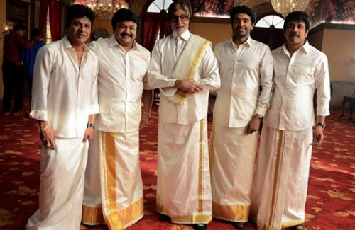 af3cdbee4b Amitabh Bachchan in a Lungi | Old-School Indian Fashion