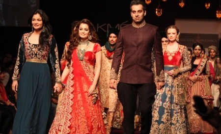 Dia Mirza is the Royal Bride For Shyamal And Bhumika, LFW 2013, Indian Bridal