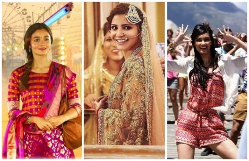 Bollywood Fashion inspiration for 2017 from Bollywood Movies - Dear Zindagi, ADHM, Aisha, Cocktail, Badrinath ki Dulhaniya