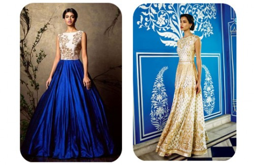 Designer Indian Gowns That Are Perfect For Spring-strand-of-silk-Indian weddings