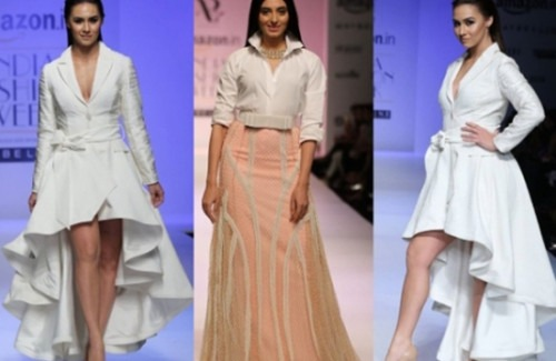 three-celebrities-on-the-catwalk-strand-of-silk-celebrities-at-Amazon-India-fashion-week