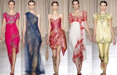 Indian Inspired Fashion Goes International Indian Fashion Blog