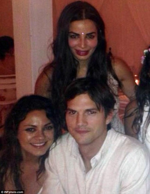 Mila Kunis and Ashton Kutcher don Traditional Indian Clothes for a Friend's Wedding