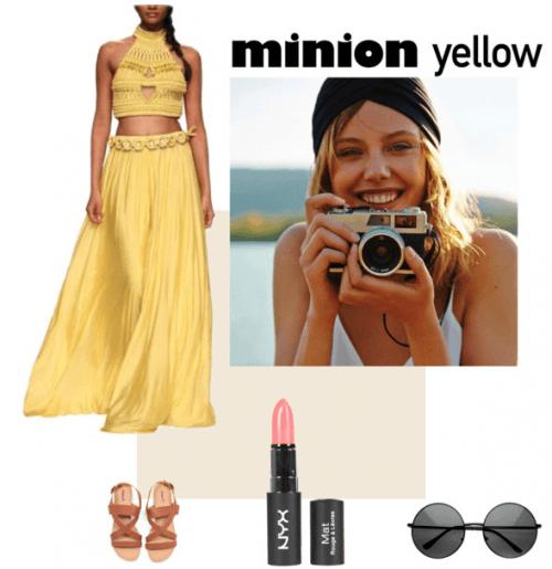 Minion Yellow - Polyvore Featuring Stunning Rinku Sobti Two Piece