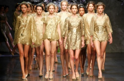 models-on-a-catwalk-dressed-in-gold-strand-of-silk-should-fashion-be-considered-as-an-art-form