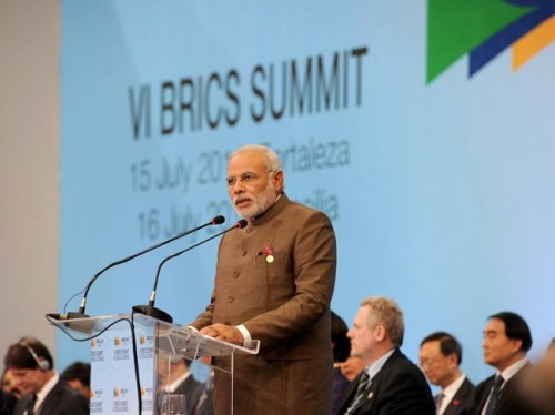 Indian Prime Minister Narendra Modi at the BRICS Summit