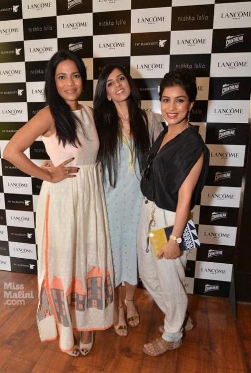 Indian Fashion designer Nishka Lulla in collaboration with Lancome