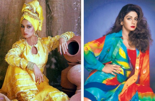 Old Madhuri Dixit and Sridevi Pictures | The Most Over-the-Top Bollywood Fashion