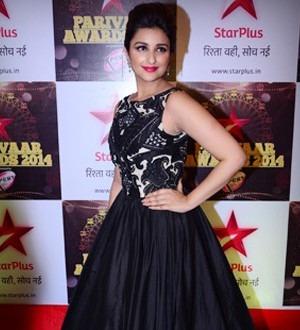 Parineeti Chopra in a Siddartha Tytler gown at Star Parivaar Awards 2014