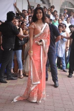Preeti Desai in a Saree by Indian Designer Anita Dongre