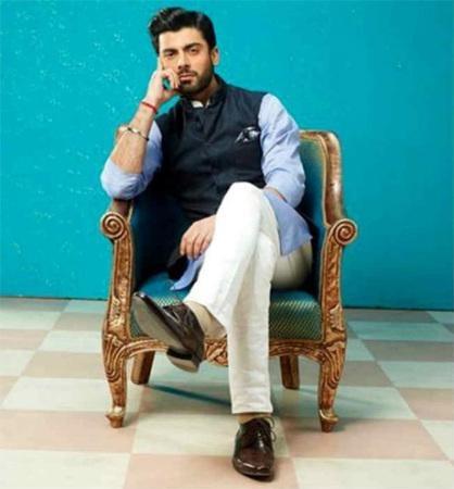 Indian Designer Raghavendra Rathore designs Fawads look in Khoobsurat