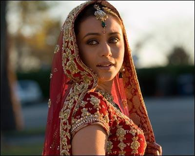 Rani Mukerji in Indian designer Sabyasachi Mukherjee designer wedding outfit!